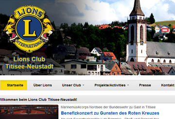 Lions Club Titisee-Neustadt Webseite