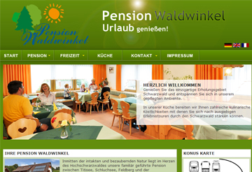 Pension Waldwinkel Webseite